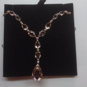 Swarovski New Large Crystal Gold Necklace